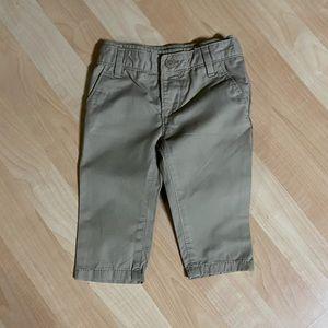 Baby Gap Boys Pull On Khaki Pants 6-12 Months